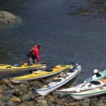 Kayaks on Hanson Island, Johnstone Strait, British Columbia