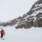 Josef skiing down McArthur glacier
