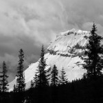 Mt. Wapta with a stormy sky behind