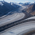 Junction of north and south arms of Kaskawulsh Glacier, Kluane National Park, Yukon