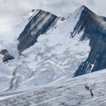 John Adams and team crossing the Tusk glacier.