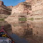 Very calm water on the Colorado River, Utah