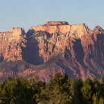 The West Temple in Zion National Park, from Gooseberry Mesa, Utah