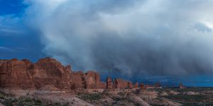 Windows area storm, Arches National Park, Utah